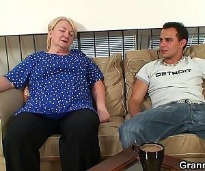 60 years old granny sucks and rides - 6 min HD