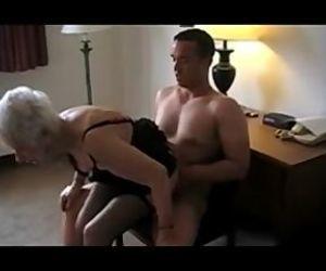 89 Yr. Old Granny Nailed rock hard and yell