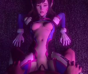 OverWatch D.Va Gets pounded hard by a fat cock and gets creampied
