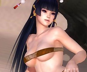 Dead or Alive 5 1.09 - Nyotengus Strech on the Beach w/ Engulfs Outfits