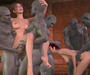 Goblin gangbang 3d cartoon 5 min 720p