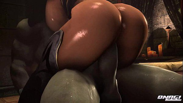Buxomy Elf Rides Orc for Creampie - 2 min