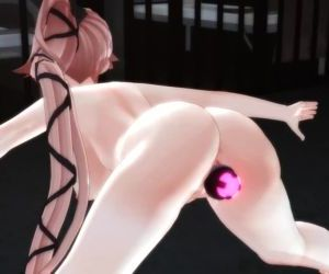 3D MMD Yura Faux-cock Thigh Swing