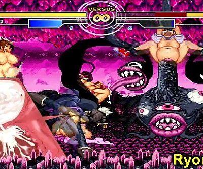 Kuromaru Vs Angel The Goddess of Fighters - 3 min