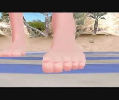 MMD Giantess Vore/Crush - Bikini Giantess