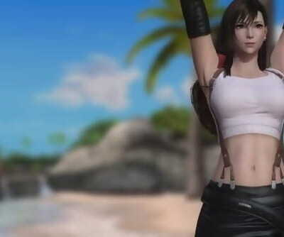 Dead or Alive 5 - Mods: Stretch - Tifa Lockhart