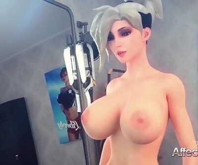 Tattooed and glasses bombshells having futa lovemaking in a dressing room 4 min 1080p