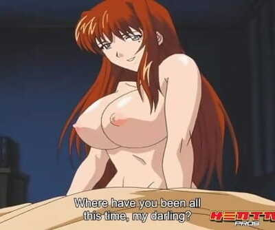 Hentai Professionls - Big titty redhead gets filled up with fat cock