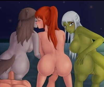 Rose, Alison and Vyl Daemith Scene Space Leashed V1