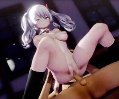 MMD SEX KanColle Kashima Fucks The Admiral All Night Till Sunrise