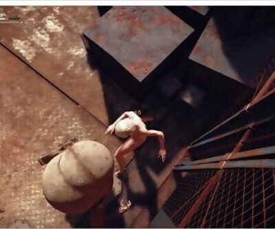 ryona nierautomata 2b naked defeat robot