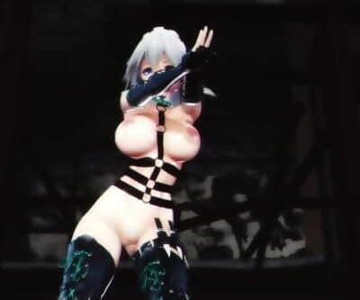 MMD SEX Touhou Sakuya Dances In Restrain bondage Suit