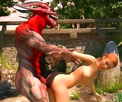 Pay the Toll. Monster pornography 3D 2 min