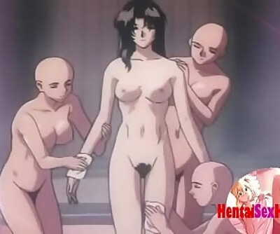 Hentai doctor gets pounded by many tentacles 9 min