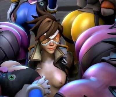 shrieking Girls Girls - Lesbian Overwatch SFM PMV/HMV Part 1