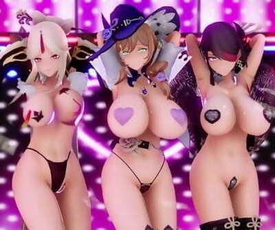 SSG Genshin Prostitution Convenience Women Phut Hon R18 3D Hentai HD Porno Version 2