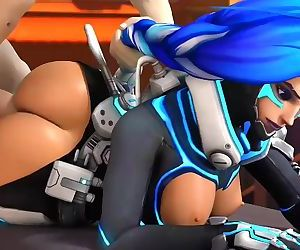 Overwatch - Sombra does anal whilst hacking