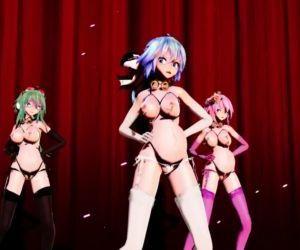 3D MMD Liar Dance Pregnant Vocaloids