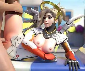 Mercy disfrutado de una buena polla - Overwatch Animation..