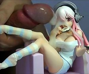 Cumshot on anime figure - 5 min
