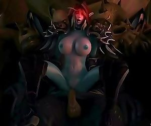 Sylvanas Gets Gangbanged And Takes A Creampie 10 min HD+