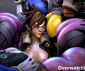 Overwatch XXX Group Sex - 5 min