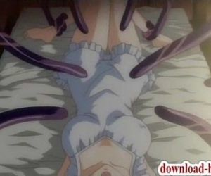 Innocent anime girls brutally tentacled - 3 min