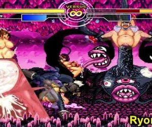 Kuromaru Vs Angel The Queen of Fighters - 3 min