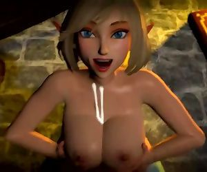 Zelda titty fuck with cumshot Legend of Zelda