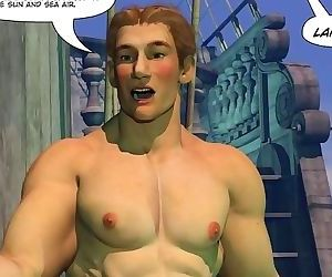 ADVENTURES OF CABIN BOY 3D Gay World Cartoon Comics or Gay..