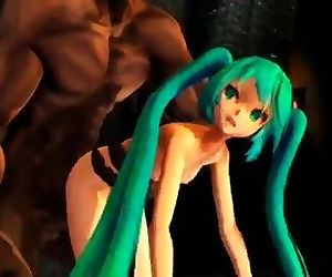 Hatsune miku destroyed by demon MMD-R18 - 1 min 20 sec