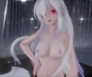 MMD Haku Snapping Naked In The Rain