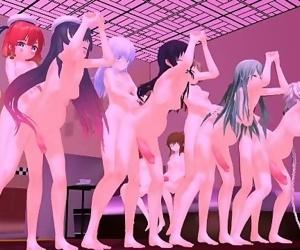 MMD SEX FUTA Kancolle FUTANARI Orgy - Masked Bitch