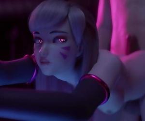 D.Va Overwatch Hard Fuck Animation
