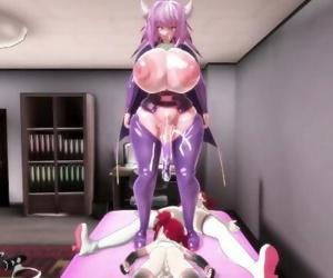 MMD Futanari Sex - Maran in touble! Alma the Breeder 3P -..