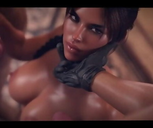 3D ANIME HENTAI TOMB RAIDER DOUBLE PENETRATION WITH BIG..