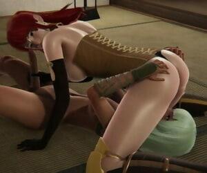 Futa - RWBY - Emerald Sustrai x Pyrrha - 3D Porn