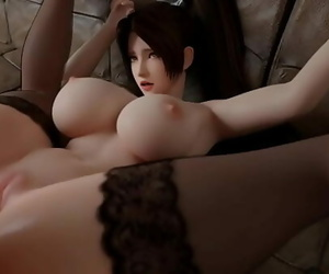 KOF Mai Shiranui Takes a Thick Shaft Deep in Her Pussy..