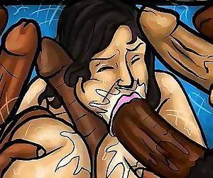 Latin Mummy Deep-throats Big black dicks! (Illustration)..