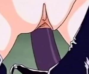 Strap-on Lesbian Fuck in Hentai Film