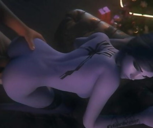 Chief Fucked Widow in her Taut Butt and Mouth / Overwatch..
