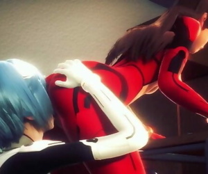 Asuka and Rei having Molten Sapphic Sex-Neon Genesis..