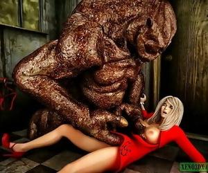 Messy Surprise Monster Sex. 3D Pornography 4 min