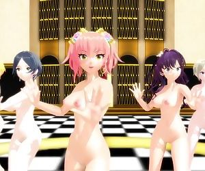 3D MMD IDOLM@STER Babes Bouncing..