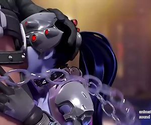 OVERWATCH - Widowmaker sucking a..