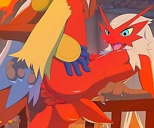 Pokemon: Blaziken and Infernapes..