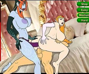 Link threesome Zelda & Midna &..