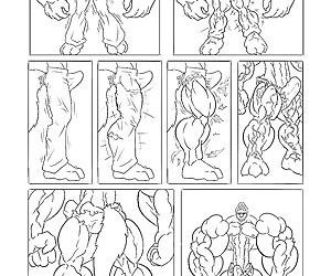 WolfieCanems Muscle Growth Comic 1