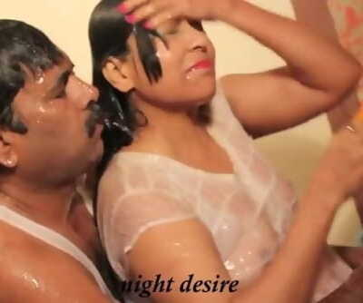 Hot desi shortfilm 272 - Wet see-through nip knockers squeezed, kisses