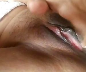 Indian gf plays with 3 fingers. Delicious pussy